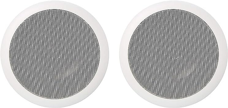 Amazon Basics Runde Einbau Lautsprecher Für Decke Wand Paar 16 5 Cm Audio Hifi