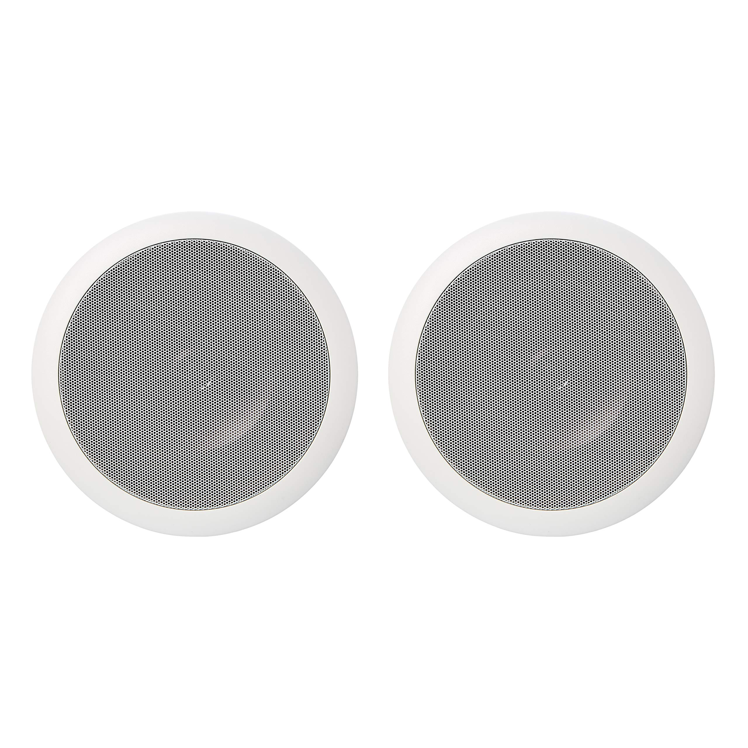 AmazonBasics 6.5'' Round In-Ceiling In-Wall Mounted Speakers, Set of 2 by AmazonBasics