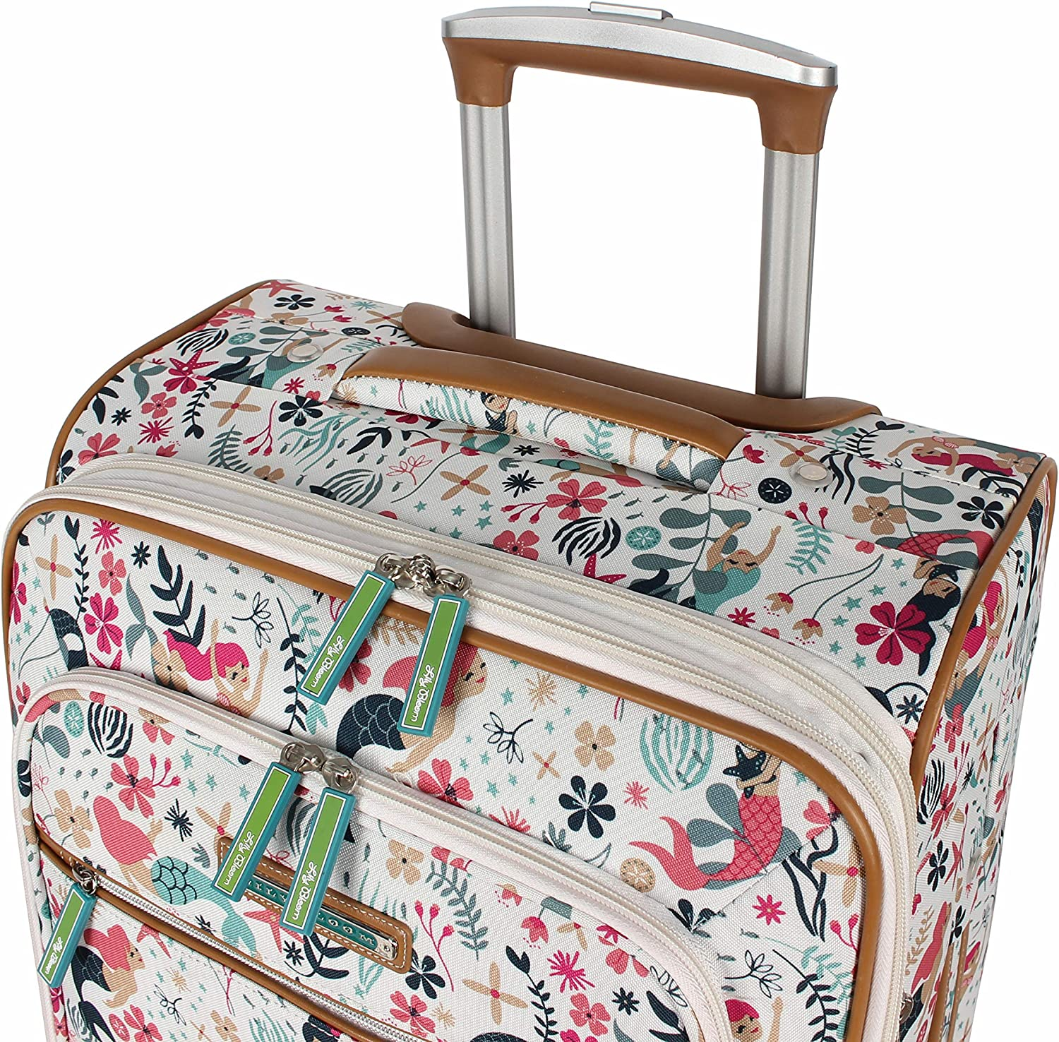 Lily Bloom Luggage 24 Expandable Design Pattern Suitcase With Spinner Wheels For Woman 24in, Aquarium Life