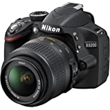Nikon 尼康 D3200 单反相机套机(AF-S DX 18-55mm f/3.5-5.6G VR 尼克尔镜头) 黑色