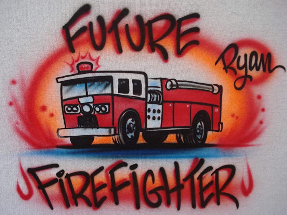 Personalized Airbrushed Firefighter License Plate Tag