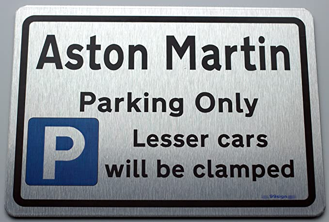 Size Small 200mm Metal Parking Sign Mini owners Gift