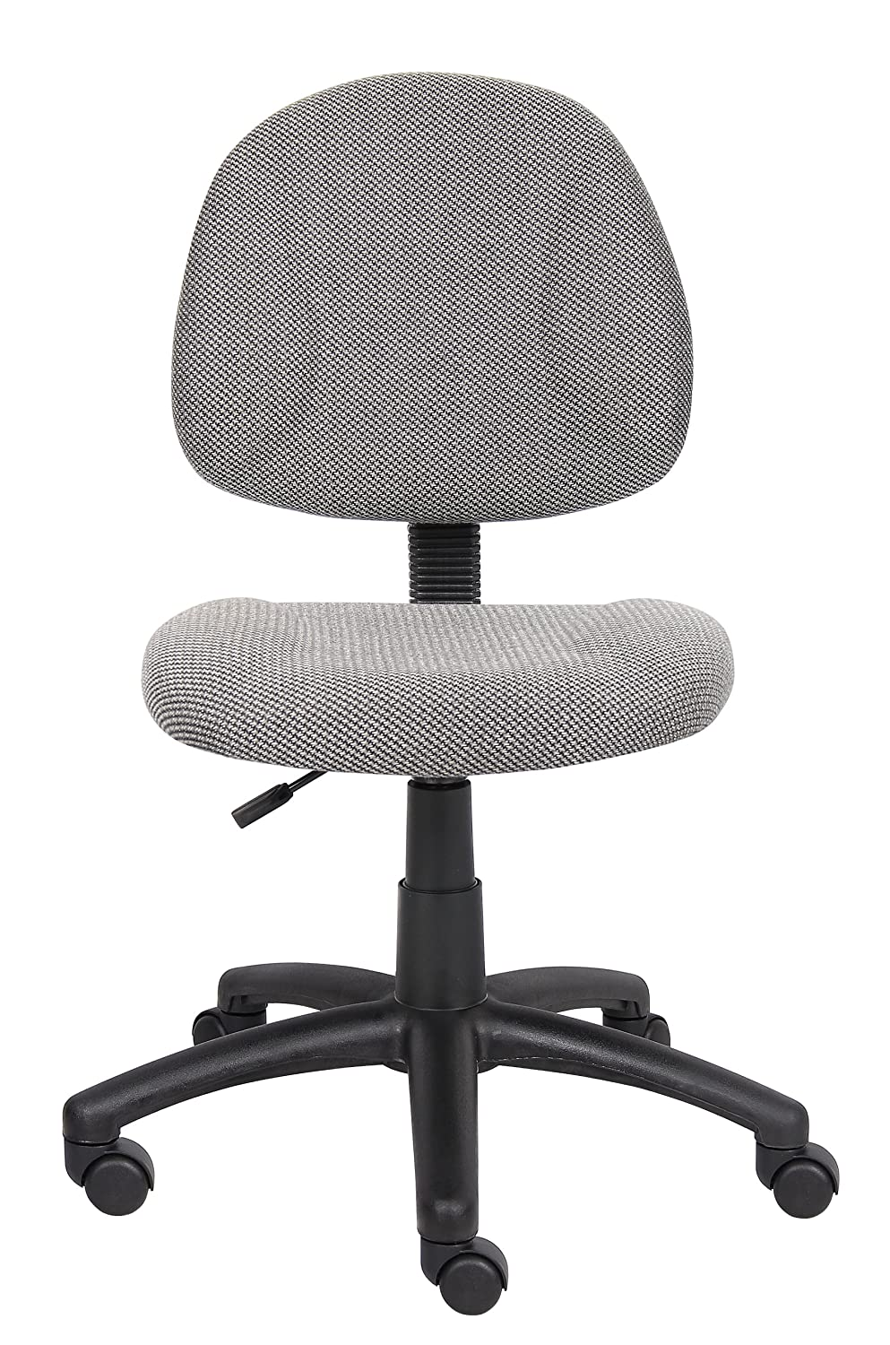 Amazon.com: Boss Office Products B315 GY Perfect Posture Delux Fabric Task  Chair Without Arms In Grey: Kitchen U0026 Dining