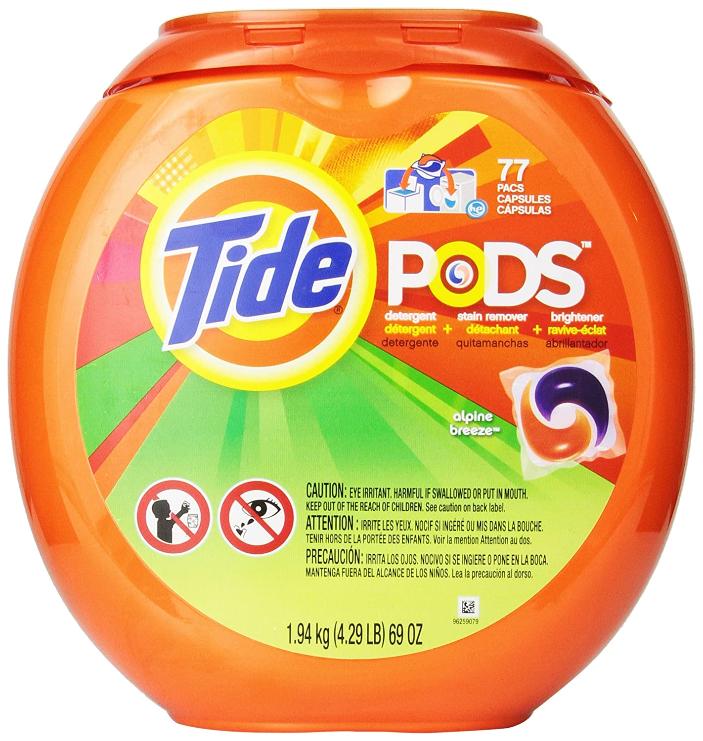 Tide Pods Laundry Detergent Alpine Breeze Scent 77 Count