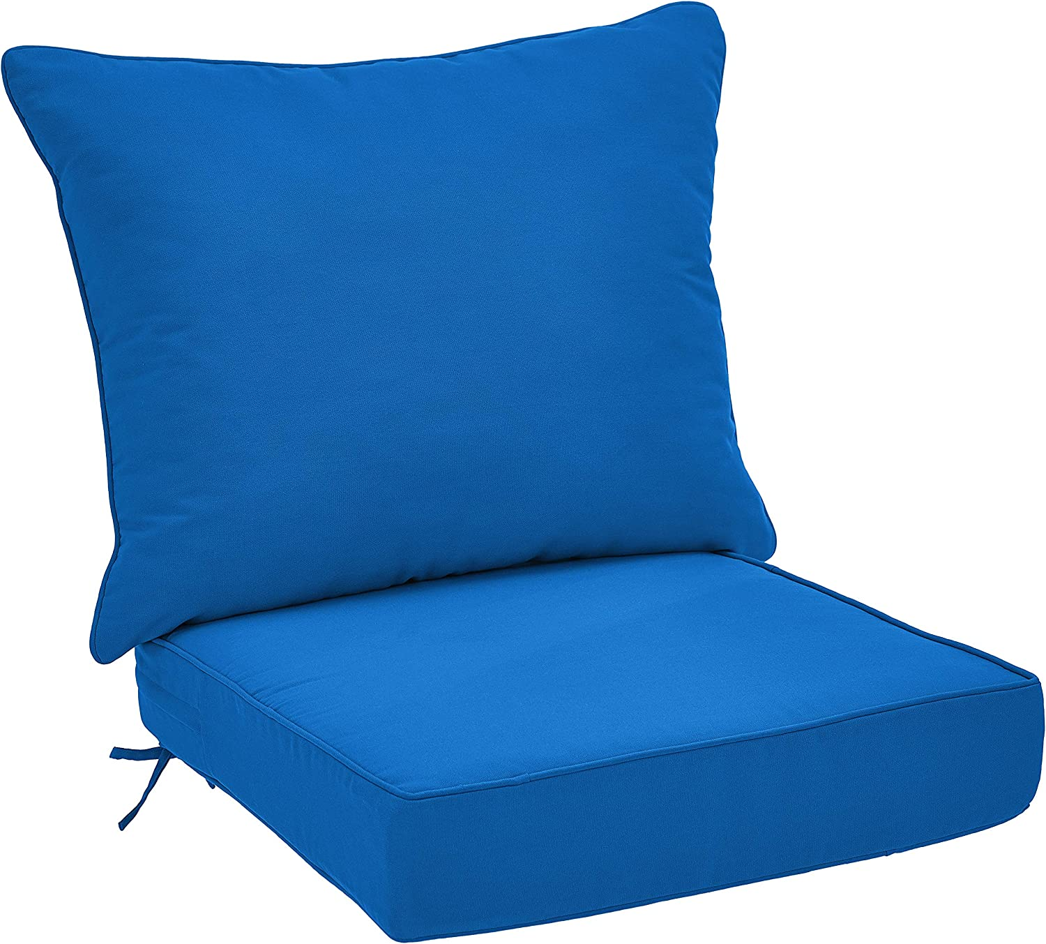 AmazonBasics Deep Seat Patio Seat and Back Cushion- Blue