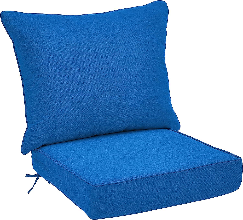 Poly Batting Basics Lounger Patio Cushion Red Stripes