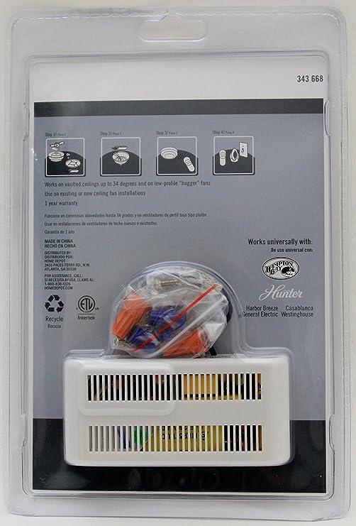 hunter universal 3 speed ceiling fan control 99110 ceiling fan rh amazon com