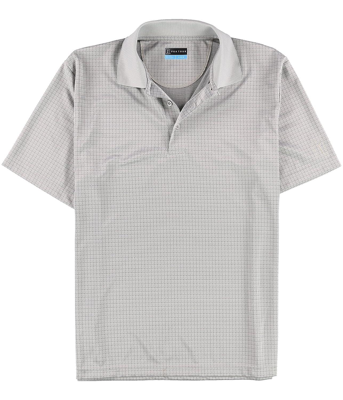 PGA TOUR Mens Windowpane Rugby Polo Shirt
