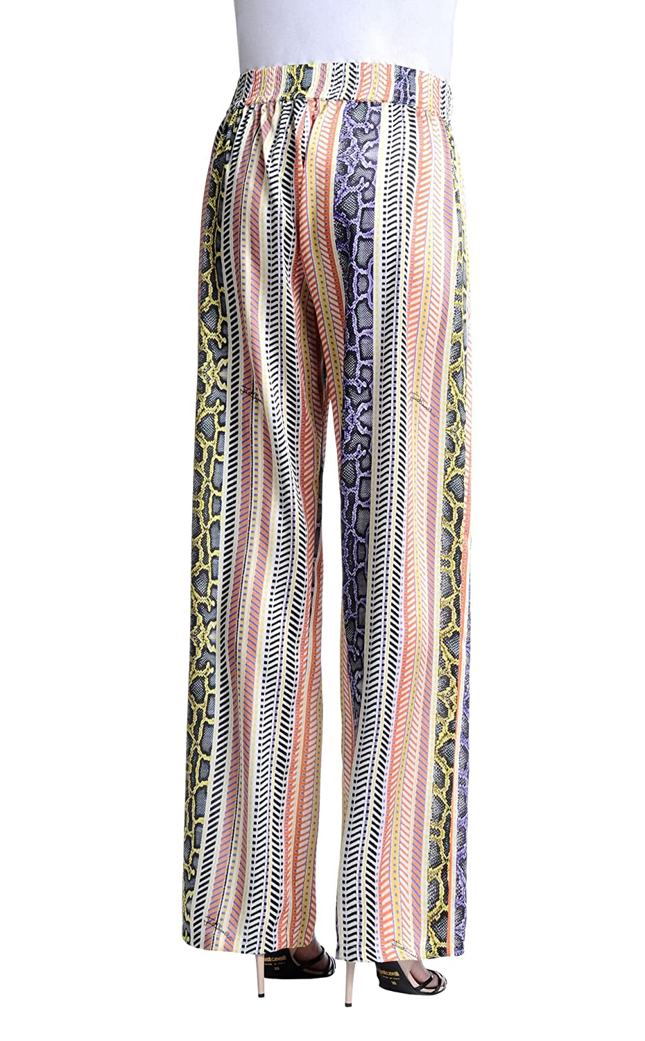 Just Cavalli Women's Multi-Color Striped Casual Pants US 4 IT 40
