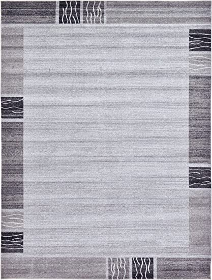 Over-dyed Modern Vintage Rugs Light Gray 9 x 12 FT Palma Collection Area Rug - Perfect for any Place