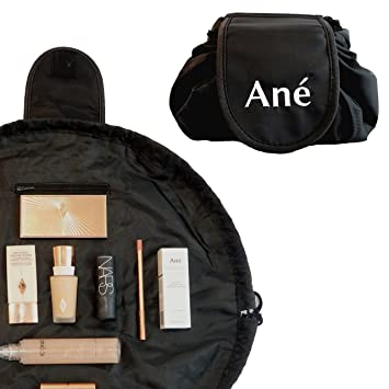Ané Drawstring Makeup Bag   Large Capacity Toiletry Bag   Opens Flat for  Easy Access to 0a2e3ec343