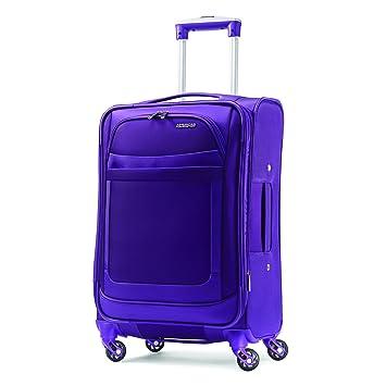 b2a0825ad Amazon.com | American Tourister Ilite Max Softside Spinner 25, Purple |  Luggage