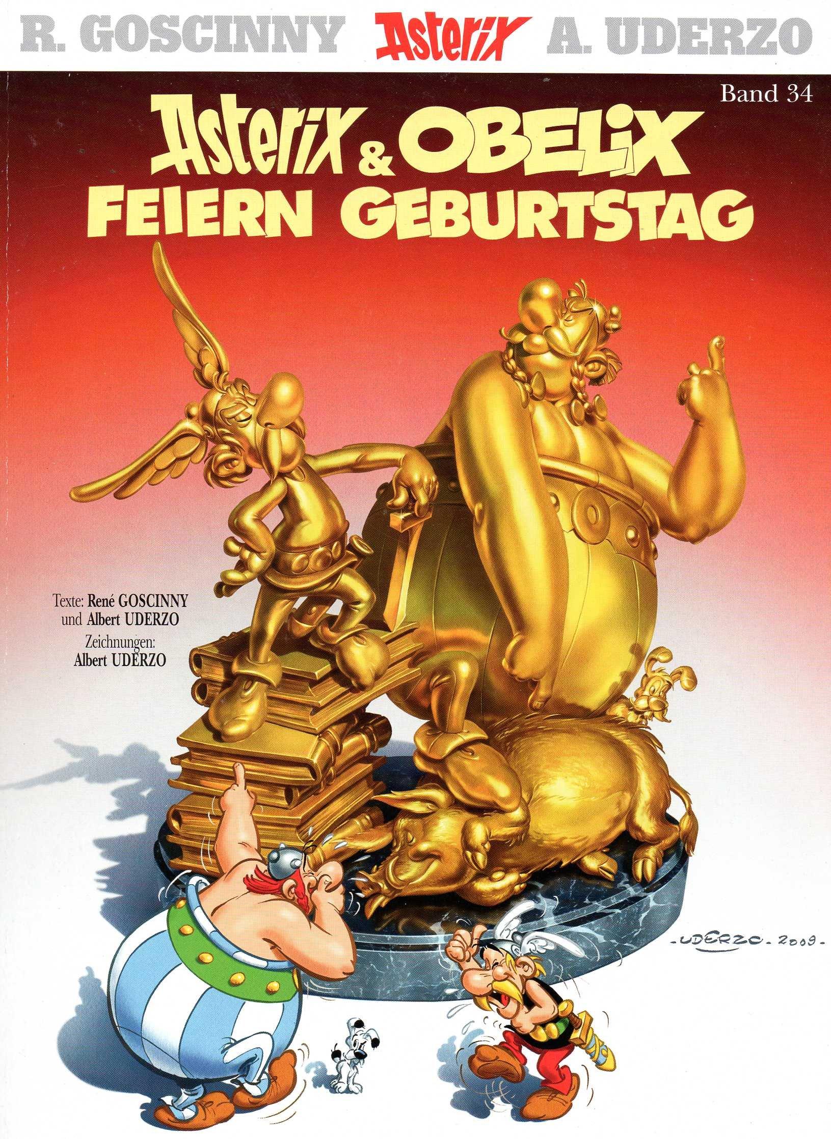R. Goscinny, A. Uderzo ASTERIX Comic Album (Softcover) # 34: ASTERIX & OBELIX feiern Geburtstag!