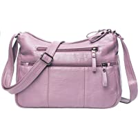 Women Crossbody Bag Pocketbooks Soft PU Leather Purses and Handbags Multi Pocket Shoulder Bag Messenger Bag