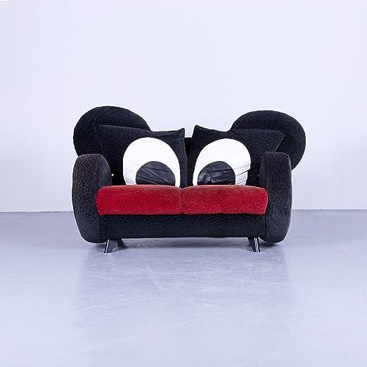 bretz Mickey Mouse - Plástico negro sofá 2 plazas Comic ...
