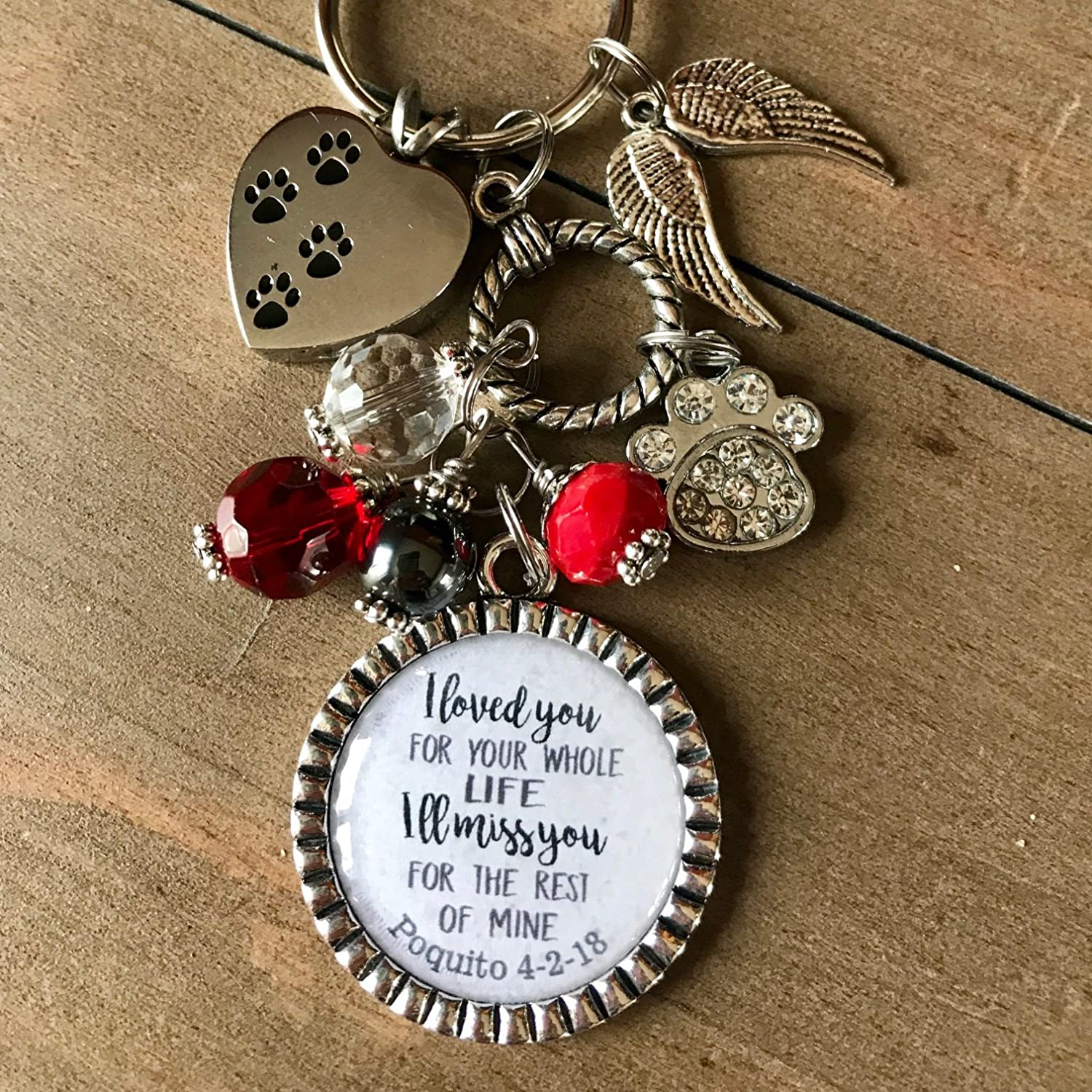 Personalised Gift for Her Him Engraved Present for Women Men car mirror charm