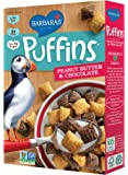 Barbara's Puffins Cereal, Peanut Butter & Chocolate, 10.5 Ounce (Pack of 4)