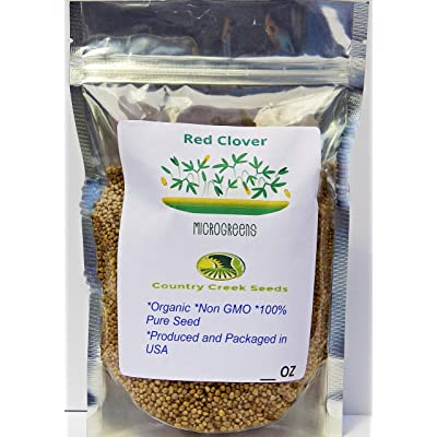 Red Clover, Microgreen for Sprouting, Organic Red Clover Sprouting Seeds - 10 Ounces, Resealable Bag, Sprouts, Microgreens, Gardening, Food Storage : Garden & Outdoor
