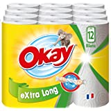 Okay Extra Long - Essuie-tout compact - 12=18 rouleaux (blanc)