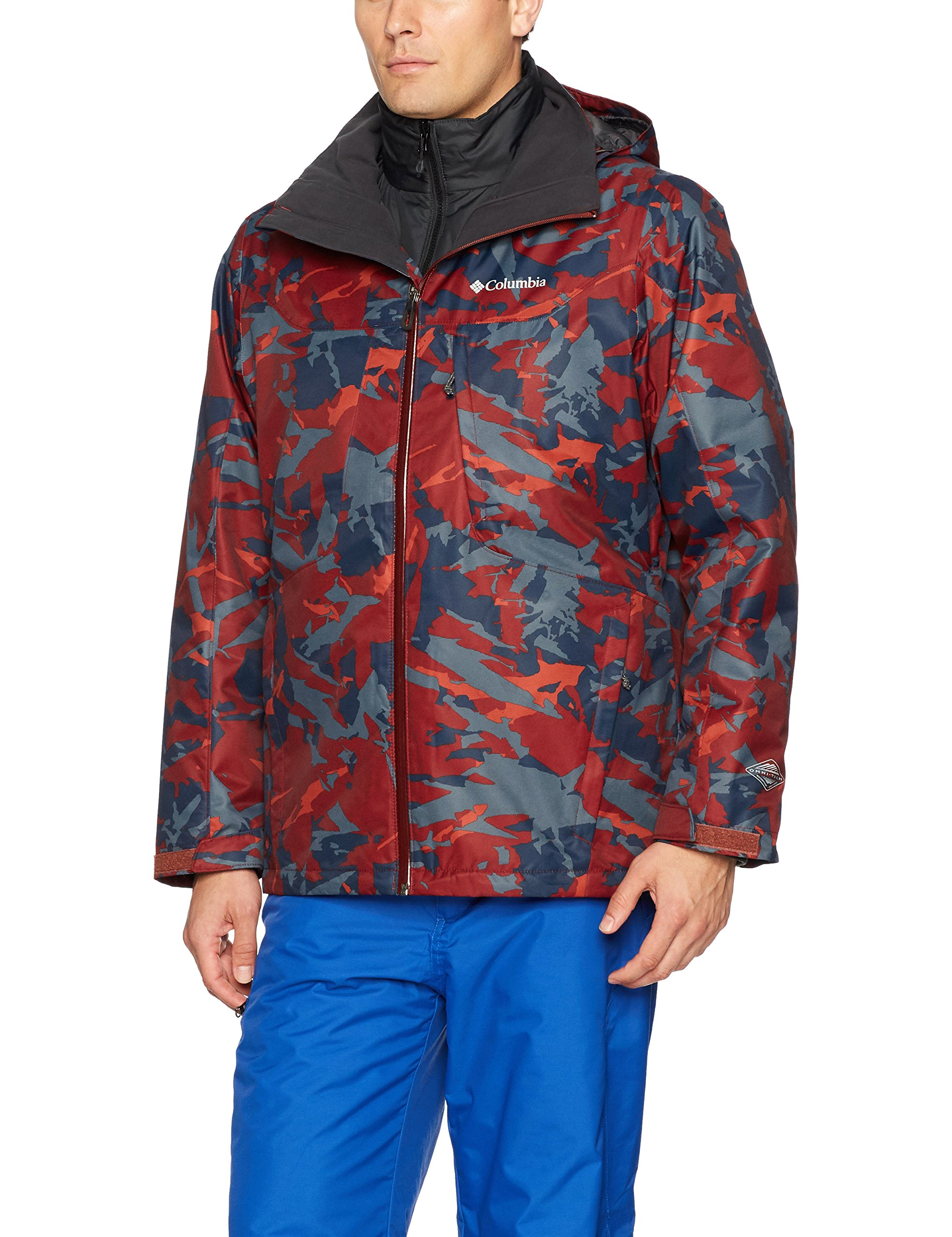 Columbia Men's Whirlibird Interchange Jacket, Medium, Deep Rust Camo