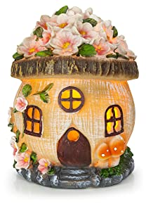 VP Home Gnome Fairy House Solar Garden Light