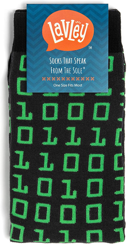 Books, Math, Science Funny Gift for Geeks Lavley Nerd Socks Cool Socks for Men and Women
