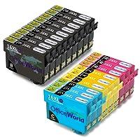 OfficeWorld Compatibili cartucce Epson 16 XL (9 Nero,3 Ciano,3 Magenta,3 Giallo)