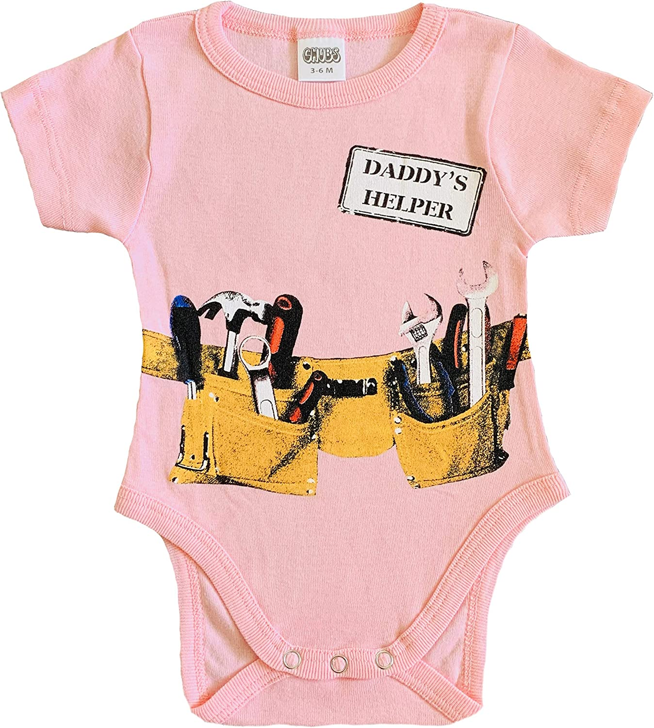 CHUBS Daddy's Little Helper Bodysuit, Funny Baby Onsies, Gifts for New Dad!