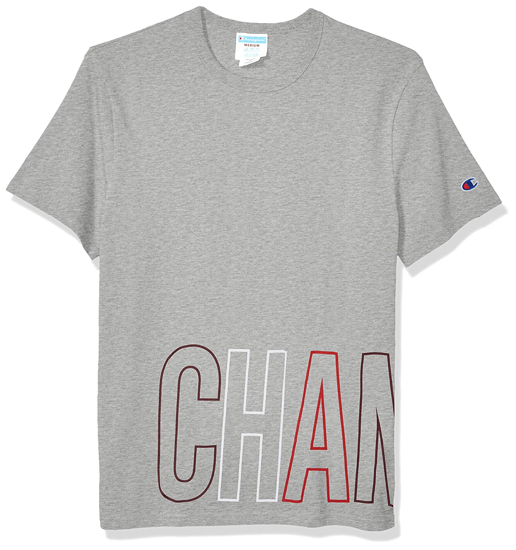 Champion LIFE Mens Heritage Short Sleeve Tee-Wrap Around Block Text