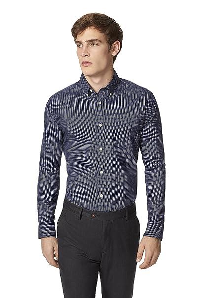15c2e67d Tommy Hilfiger Men's Match Geo Print Shirt: Amazon.ca: Clothing ...