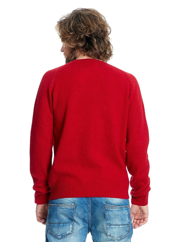 Springfield Jersey Lana Rojo Oscuro M  Amazon.es  Ropa y accesorios 04ed5295371b