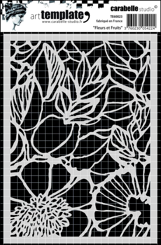 Bianco//Trasparente Carabelle Studio Bouquet of Flowers Mascherine Artistiche 10x14x1 cm