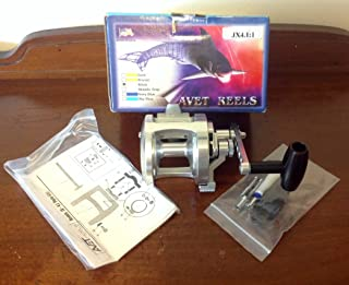 product image for AVET JX4.1:1 Single Speed Silver Fishing Reel + Box & Paperwork - USA Made Rare