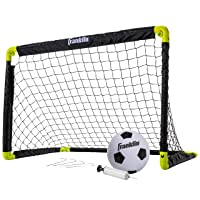 Franklin Sports Set Mini Soccer Goal Kids Backyard/Indoor Net Ball Pump Portable Folding Youth 36