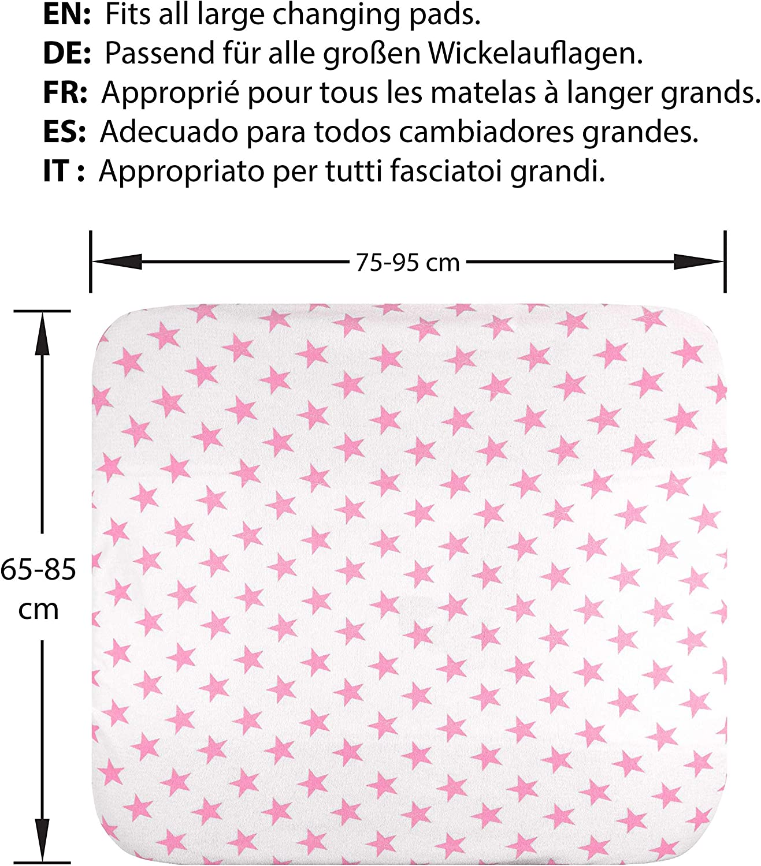 Funda para cambiador bebe 2 fundas para colchoneta cambiador funda ba/ñera 50x70 50x80 toalla ajustable a cambiadores