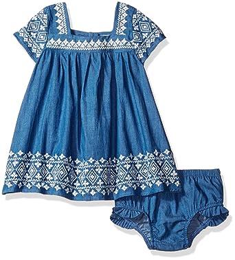 Amazon Com Jessica Simpson Baby Girls Embroidered Denim Dress