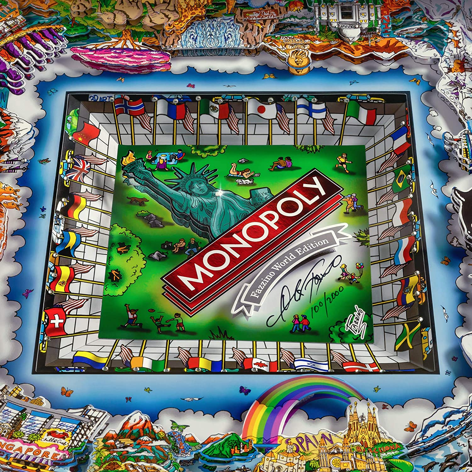 Monopoly World Edition de Charles Fazzino: Amazon.es: Juguetes y juegos