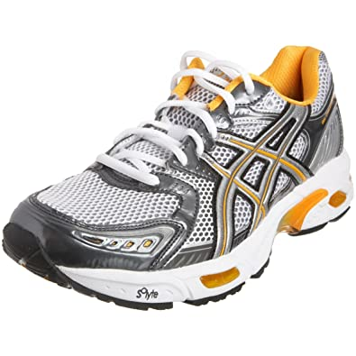 ASICS Men s Gel Evolution 5 (2E) Running Shoe White Silver Radiant Orange 0a0de12184