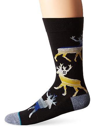Stance Men's Donner Crew Sock, Black, Small/Medium