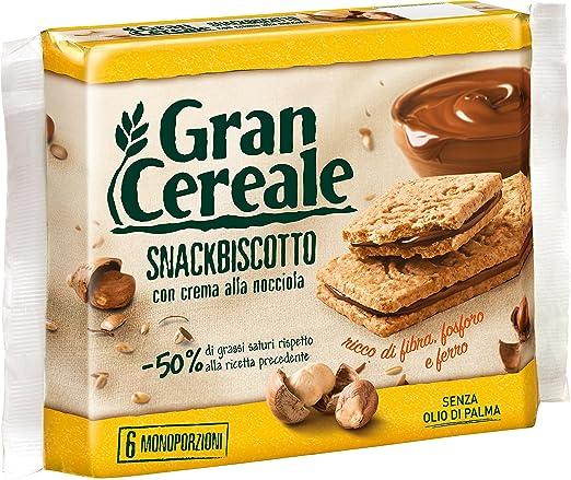 9 opinioni per Gran Cereale- Snackbiscotto, Biscotti farciti con crema alla nocciola- 180 g