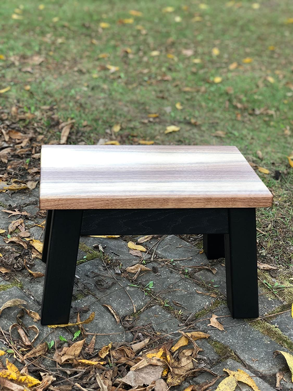 Amazing Sapwood Walnut Top Wood Step Stool Foot Stool Riser 8 10 Squirreltailoven Fun Painted Chair Ideas Images Squirreltailovenorg