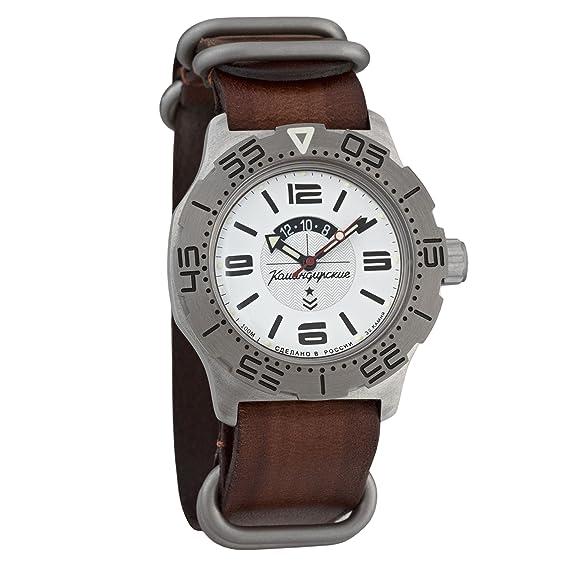 Vostok KOMANDIRSKIE K35 ruso Militar reloj de pulsera correa de piel WR 100 M # 350618: Amazon.es: Relojes