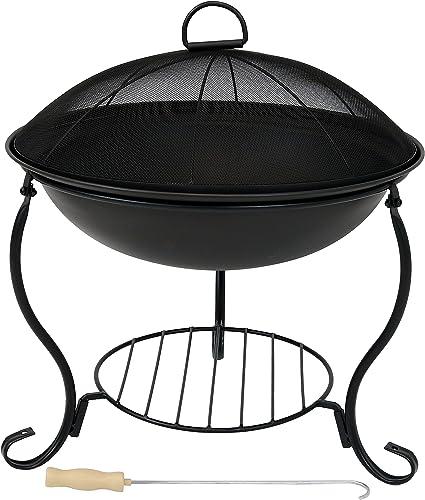 Sunnydaze Elegant Steel Fire Pit Bowl