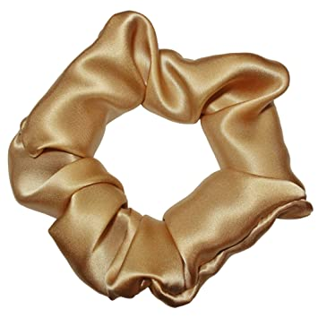 Amazon.com   Satin Scrunchies 100% Silk Premium Quality Ponytail Holders  Choose Size Many Colors Scrunchie King Made in the USA   Beauty 38c604900fa