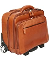 Cortez Colombian Leather Executive Laptop Cabin Trolley, Removable Laptop Sleeve