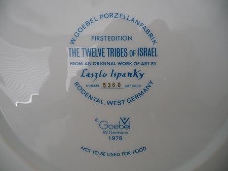 Vtg 1978 Laszlo Ispanky Goebel The Twelve 12 Tribes Of Israel First Ed Plate NEW