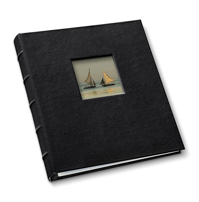 Presentation 1 1/4' Window Binder Freeport Black Gallery Leather
