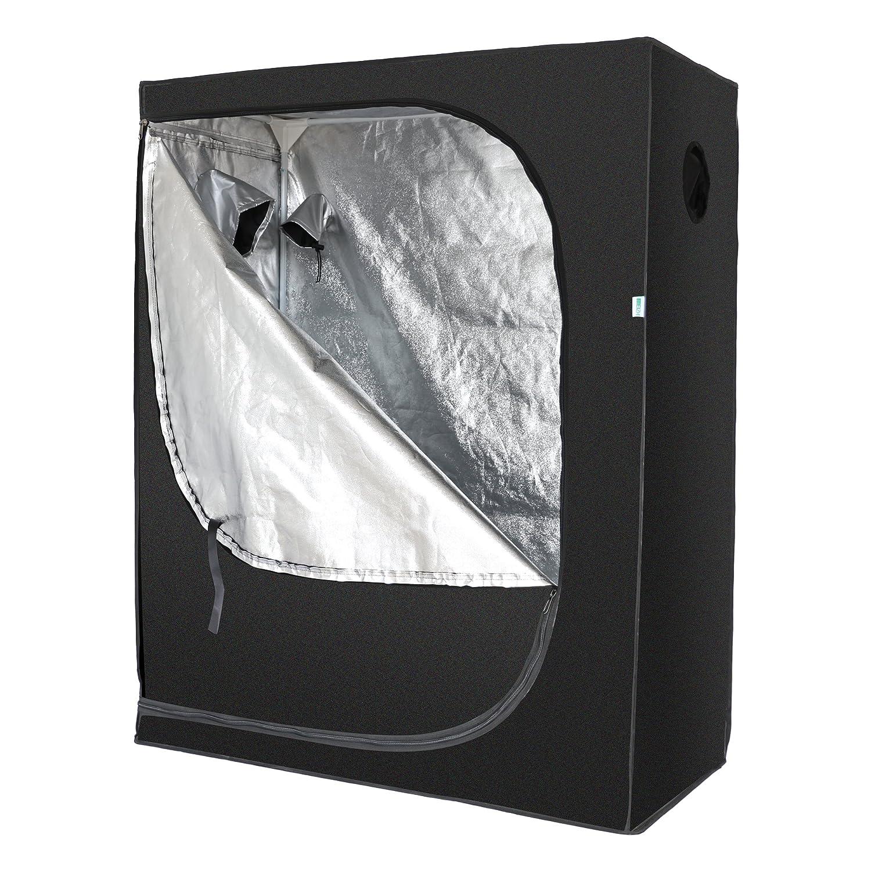 MEIZHI 120X60X150 CM Grow Tent Green Room Garden Hydroponics Box Mylar Silver for Indoor Growing