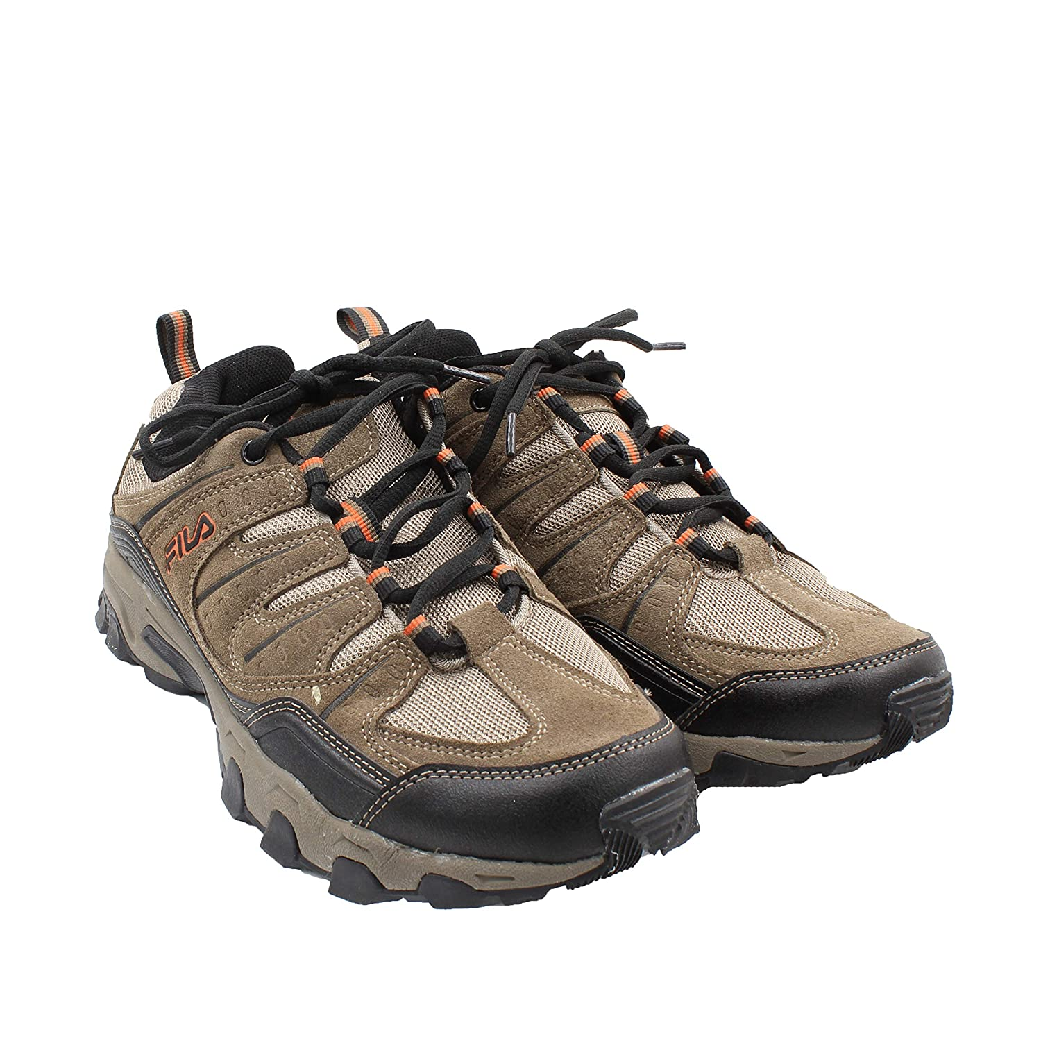 Fila Men s Outdoor Hiking Trail Running Athletic Shoes Brown Orange