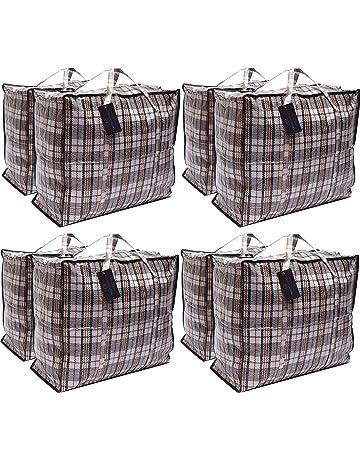 Paquete de 8 bolsas de compras XX-Large STRONG Storage Laundry - Bolsas XXL con